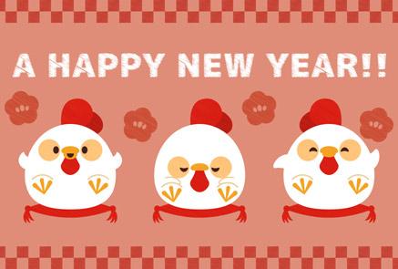 年賀状,無料,ダウンロード鶏,酉年,鳥